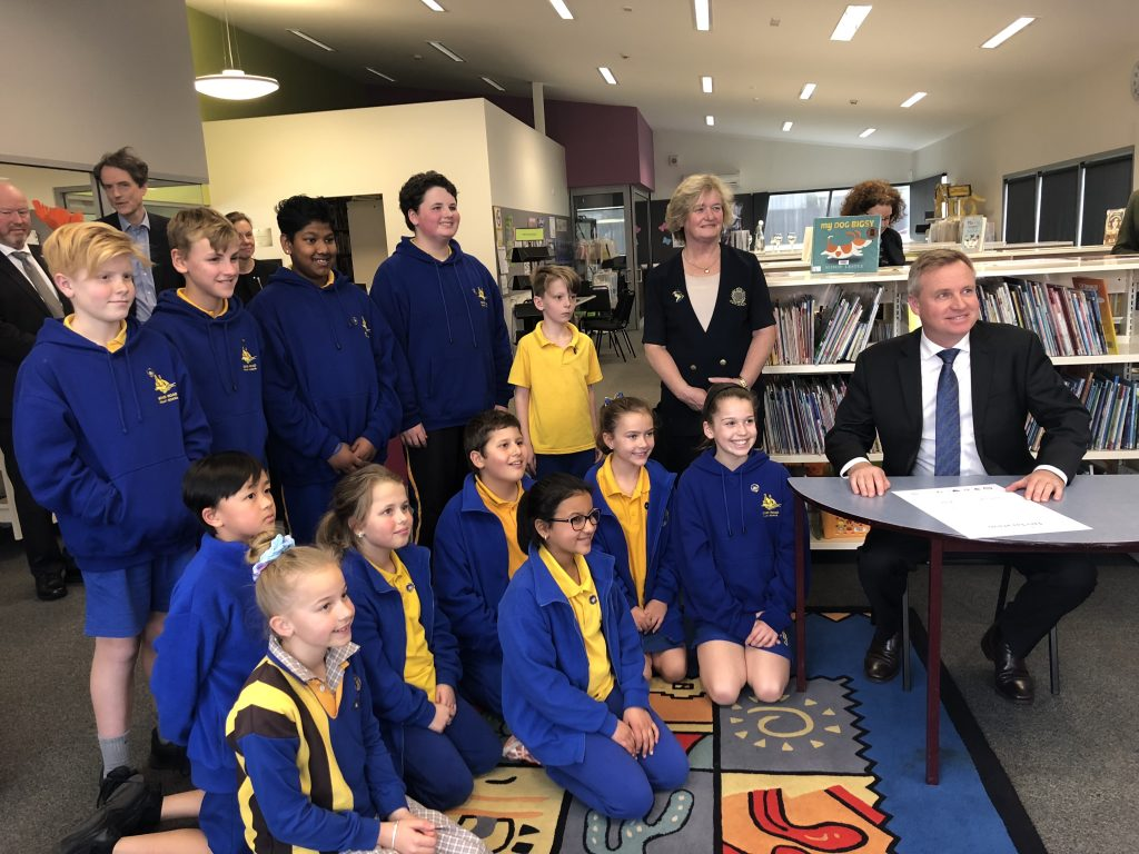 The Minister with Students