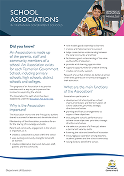 School Associations Factsheet