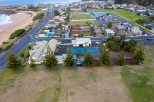Aerial photo of Cooee Primary School