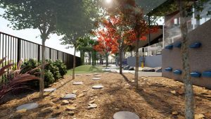 Concept photo of East Launceston Primary School Kinder outside space