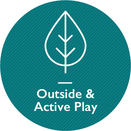 Outside and active play, link on the same page