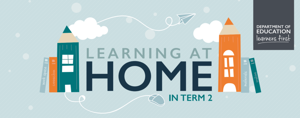 Learning at Home in Term 2 graphic to showcase the different elements.