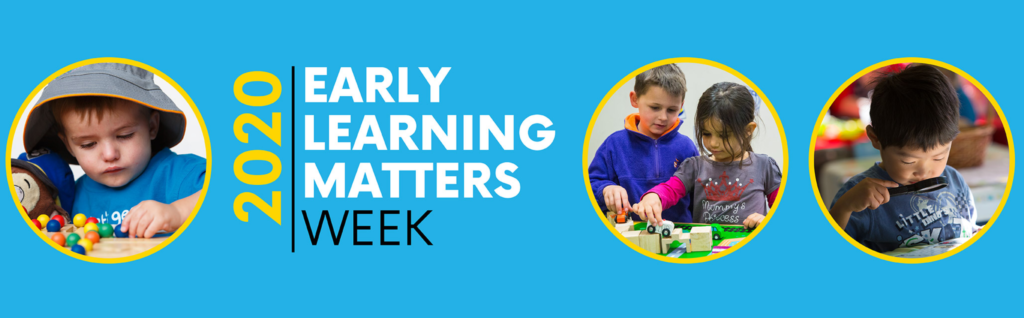 Early Learning Matters Week 2020 Banner with young children.