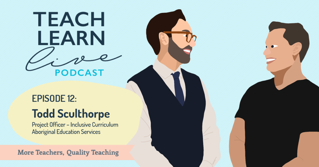 Image of Todd Sculthorpe and Tim Bullard from the Teach Learn Live podcast