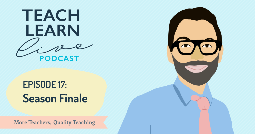 Illustration of Tim Bullard for the season finale episode of the Teach Learn Live podcast