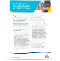 Image of Australian School-Based Apprenticeship Factsheet
